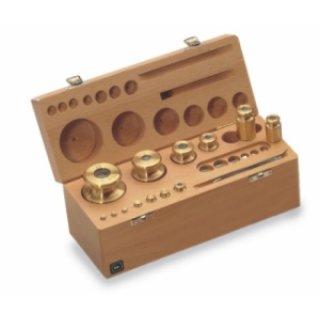 M1 Gewichtssatz Prüfgewichte auch geeicht Edelstahl im Holz-Etui