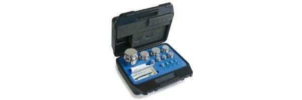 M1 Gewichtssätze Knopfform Edelstahl im Koffer