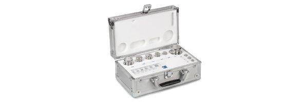 M1  Gewichtssätze Knopfform Edelstahl feingedreht Aluminium-Koffer