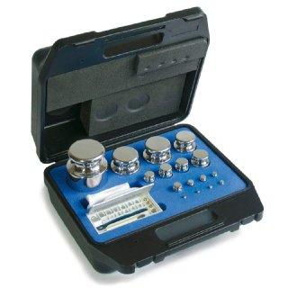 1 g - 200 g   M1 Gewichtssatz Edelstahl im Kunststoff-Koffer