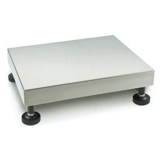 Plattform mit Edelstahl-Wägeplatte und IP65 bis 600 kg
