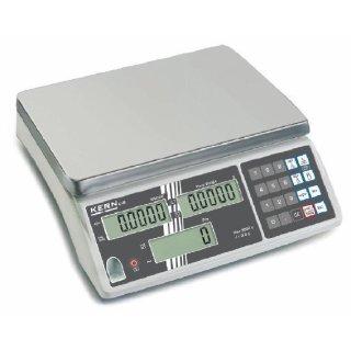 Profi-Zählwaage mit Schmutzabweisende Bauweise Max 30 kg   d=2 g mit DAkkS-Kalibrierschein