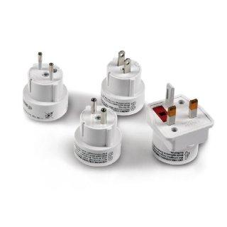 Netzteil Adapter-Set von Standard EU auf UK/US/AUS/CH