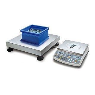 Kern Zählsystem mit hoher Zählauflösung Max 150 kg |  Ablesbarkeit 50 g | Wägeplatte Mengenwaage 650x500 | 0,05 g ohne DKD-Kalibrierschein