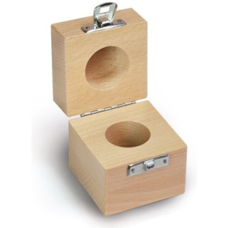 Holzetui 1 x 50 kg Prüfgewicht Buche