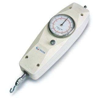 Mechanisches Kraftmessgerät für Zug- und Duckmessung bis 500 N Max=100 N | d=0,5 N mit ISO-Kalibrierschein (Zug) mit  ISO-Kalibrierschein (Druck)
