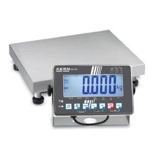 Edelstahl-Plattformwaage mit Edelstahl-IP68-Auswertegerät und Eichzulassung Max 15/30 kg   d=5/10 g   400x300 mm mit DAkkS-Kalibrierschein mit Eichung der Waage