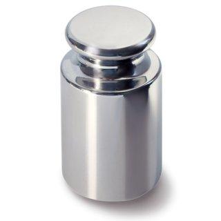 5 kg - E1 Einzelgewichte, Knopfform, Edelstahl poliert