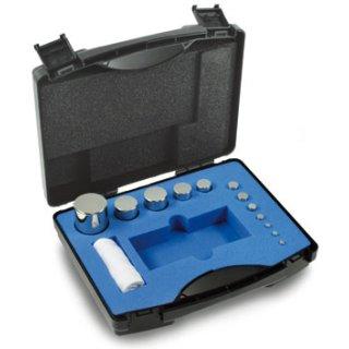 1 g - 100 g - E2 Gewichtssätze, Kompaktform, Edelstahl poliert, Kunststoffkoffer