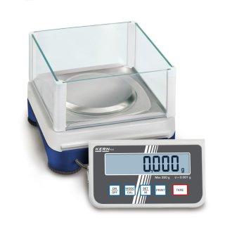Max 350 g    Ablesbarkeit 0,001 g   Wägeplattengröße Ø 105 mm
