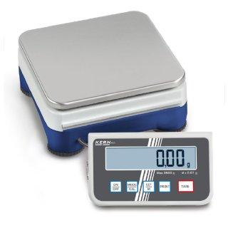 Max 6000 g    Ablesbarkeit 0,1 g   Wägeplatte 165 mm x 165 mm