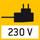 Netzadapter 230V/50Hz. Serienmäßig Standard EU. Auf Bestellung auch in Standard GB, USA oder AUS auf Anfrage.
