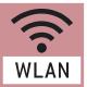 Datenschnittstelle WLAN:  Zur Daten- übertragung von Waage  zu Drucker, PC  oder anderen Peripheriegeräten